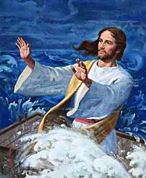 Jésus ds barque