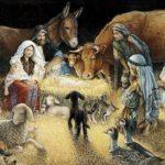 Naissance de Jésus dans la crèche